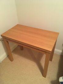 2nd hand Oak finish IKEA extending table