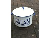 Blue and White enamel Bread Bin