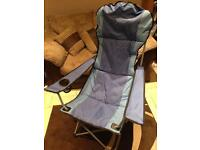 High backed camping chair