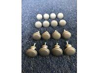 16 Satin Silver kitchen cupboard door knobs