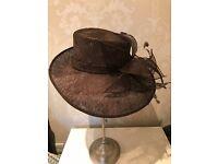 Stylish John Lewis Brown Wedding / Occasion Hat