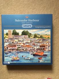 1000 piece jigsaw puzzle. Salcombe Harbour