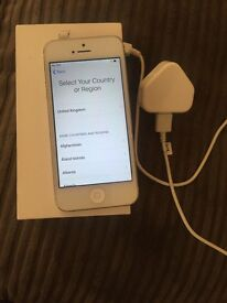 White I phone 5 on vodaphone