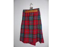 Women's kilted skirt in red McLean