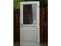 UPVC DOOR WITH GEORGAIN WIRE D/G UNIT, IDEAL FOR SHED OR WORKSHOP