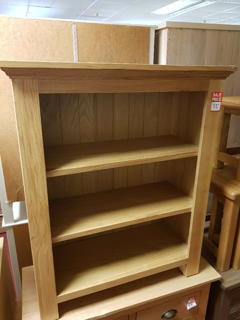 knights bridge solid wood small bookcase oak