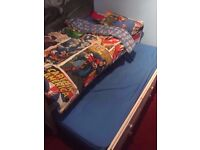 Kidspace Single Bed + Pull-out Guest Bed + Storage Draws + One Single Mattress