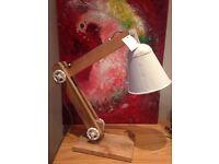 Wooden table/desk lamp