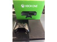 xbox one console 500gb/black includes controller and cables