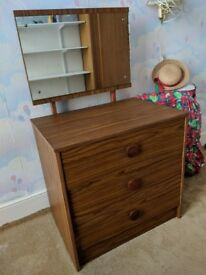 Sturdy child's / young person's dresser with great mirror