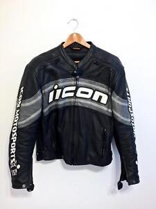 Retro/Classic-style Icon Daytona Leather Jacket (w liner) - M