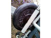 weights set 2 x 25 kg
