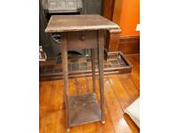 Small Antique Oak Stand/Table - Pre Owned
