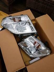 Nissan navara d40 new headlights