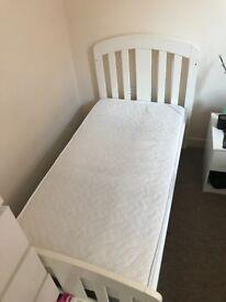 White Mamas and papas cot junior bed