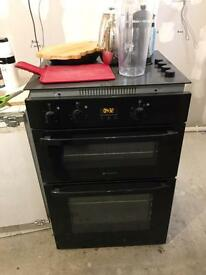 Electric hotpoint hob and oven
