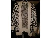 Leopard cardigan size Large
