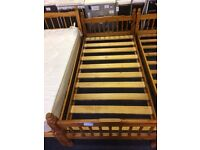 2 x Wooden Single Bed Bases