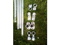 Galvanised Tube 42.4mm with Clamps