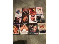 Around 60 DVDs/Blurays