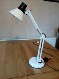 ANGLEPOISE DESK LAMP, CREAM/BLACK, GOOD CONDITION