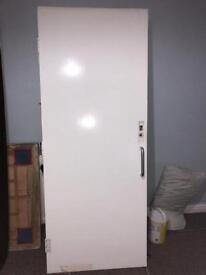 Used Internal Fire Door, h1968/w787/d40mm with handle and still plate, 3 hinges. Weight 22kg.