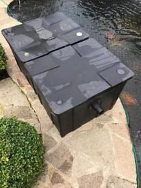 Twin black bio filter for koi/ fish pond