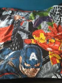 Single Avengers duvet cover with matching pillow case