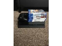 Ps4 500gb with 1 controller and 6 games