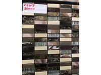Mosaic tiles £6.99, EGYPT BROWN