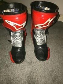 Alpinestars SMX Motorbike Boots - Size Euro 40 (8-9)