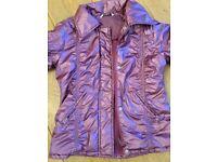 Girl's purple jacket with fleece Size 10 Y