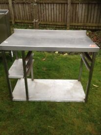 Stainless Steel Table - 2 Shelves