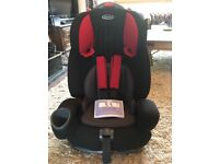 Graco nautilus car seat with 5 point harness and seat belt point 9kg to 36kg. Fantastic condition