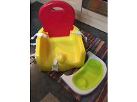 Mothercare creative booster seat with tray