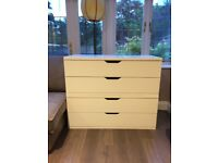 2 x Chest of drawers in white