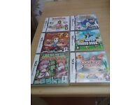 Nintendo DS games x 6. All as new, boxed with instructions