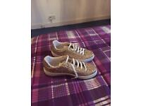 River Island Gold Glitter Trainers
