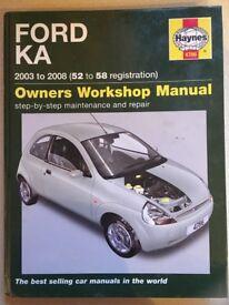 Ford Ka 1996 2008 owners' workshop manual