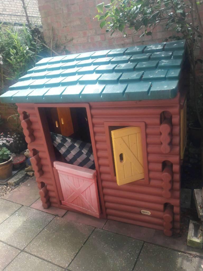 Little Tikes Log Cabin Kids Play House Outdoor Garden In