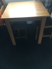 Oak table two seater
