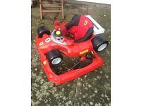Ferrari baby bouncer and walker