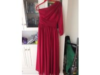 Floor length pink ball prom wedding cocktail dress size 12 ladies WORN ONCE ONLY