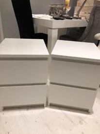 PaIr of Ikea bedside tables
