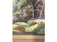 Antique/Vintage Watercolour/Art/Picture in Antique Frame