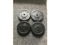 4X 10KG METAL WEIGHT PLATES