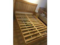 King size real oak bed frame