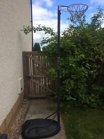 Netball hoop and stand