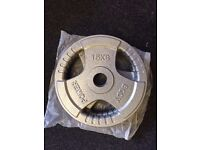"""2 Cast Iron Olympic Weight Plates 15Kg 2"""" Diameter Brand New   Daddy Supplements"""