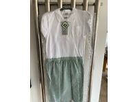 Summer dresses green and white cotton rich. Aged 14 brand new.